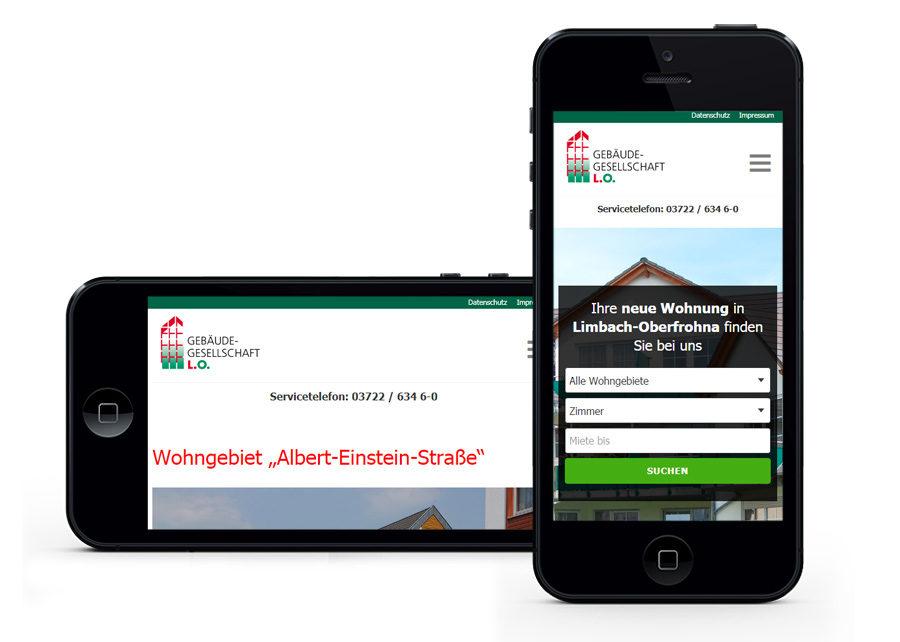 Webseite mobile Anpassung erstellt von Digital Connect aus Chemnitz