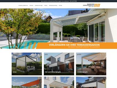 Webseite Referenz Markisen Baur Dresden