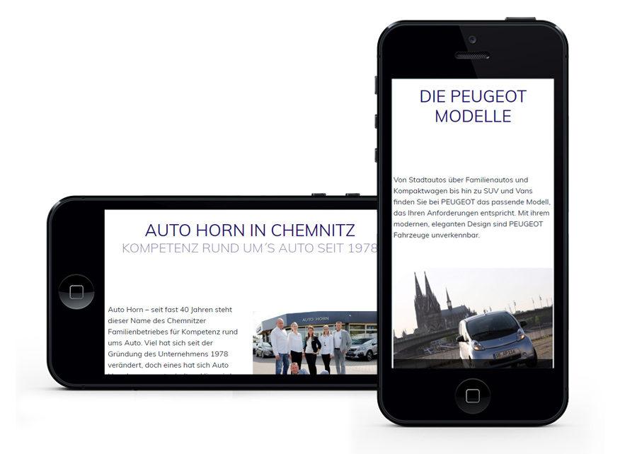 Webseite Referenz Auto Horn GmbH Chemnitz