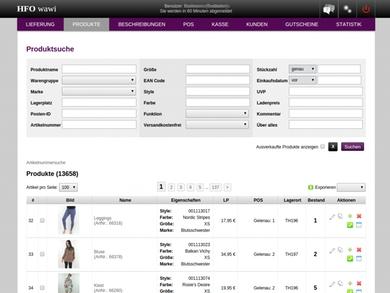 Warenwirtschaftssystem für Onlineshop