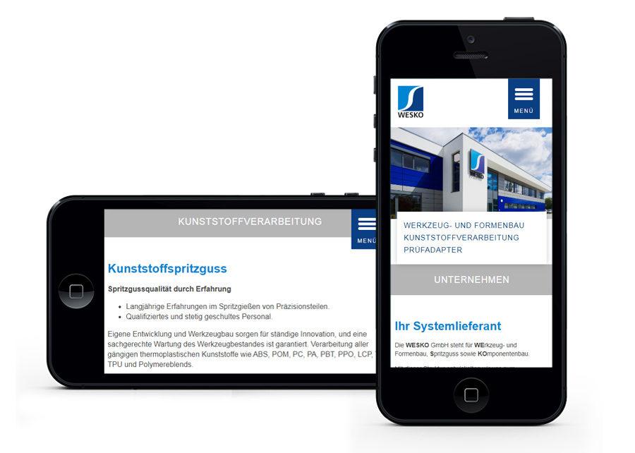 Webseite responsive Design erstellt von Digital Connect aus Chemnitz