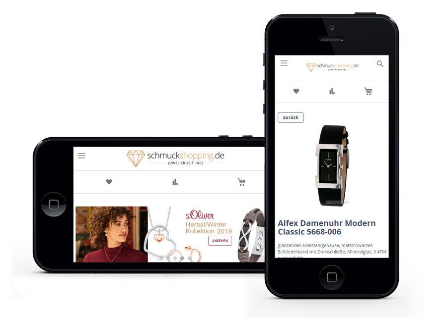 Onlineshop mobile Anpassung erstellt von Digital Connect aus Chemnitz