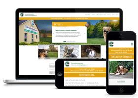 Webdesign-Beispiel für ein Tierheim